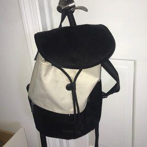 Black and white designer backpack